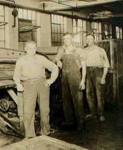 John Winkelbauer at Stockwethers factory. Almost all males and many females worked at the various woodworking factories at least once in their lives. The Winkelbauer family was from the village of Hirschbergen, Bohemia. They came to America in 1883.